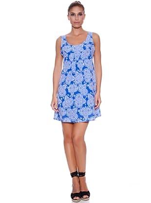 Carey Vestido Étnico (Azul / Blanco)