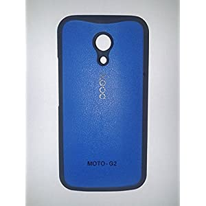 XGOQ Back Case Cover For Moto G 2nd Gen XT1068 (Blue)