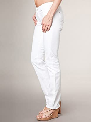 7 for all Mankind 5-Pocket Jeans Alyssum Straight Leg (Weiß)