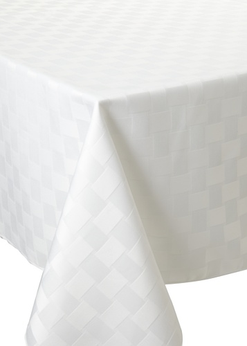 Bardwil Reflections Oblong Tablecloth (White)