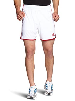 adidas Pantalón Corto Entrada (Blanco / Rojo)