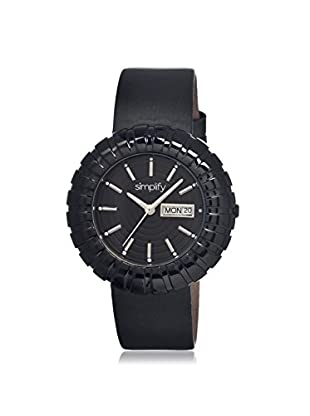 Simplify Women's 2108 The 2100 Black Leather Watch