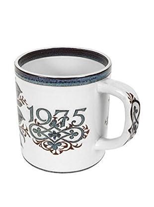 Royal Copenhagen 1975 Bicentennial Mug, Cream/Blue/Brown