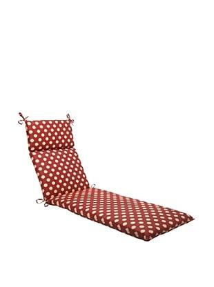 Waverly Sun-n-Shade Solar Spot Henna Chaise Lounge Cushion (Red/Tan)