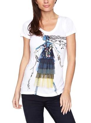 Desigual Camiseta 27T2L08 (Blanco)