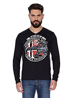 Geographical Norway Camiseta Manga Larga ML Jaroda Ls Men (Negro)
