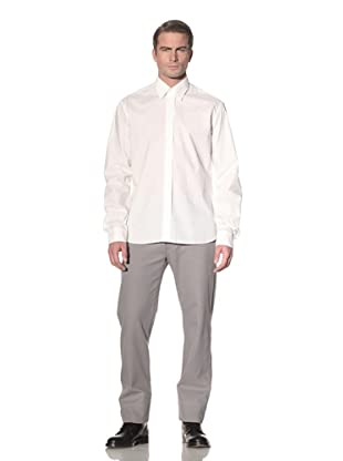 Ann Demeulemeester Men's Perforated Button Front Shirt