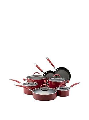 KitchenAid Aluminum Nonstick 12-Piece Cookware Set (Red)
