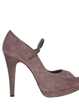 Magrit Zapatos Peep Toe (berenjena)