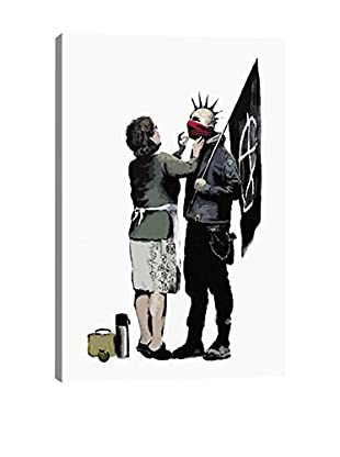 Banksy Anarchist And Mother Gallery Wrapped Canvas Print