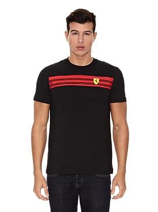 Ferrari Camiseta Striped (Negro)