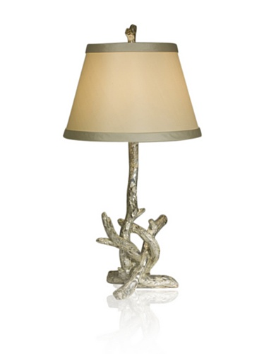 Aqua Vista Silver Branch Table Lamp, Silver