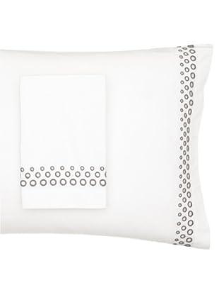 Vera Wang Pair of Crinkle Plaid Pillowcases