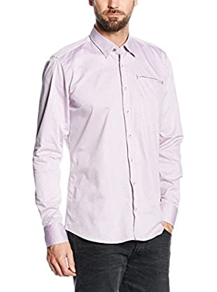 Mattschwarz Camicia Uomo Modern Fit