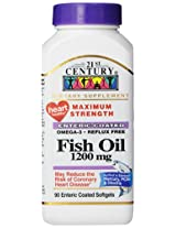 21st Century Fish Oil 1200 mg Enteric Coated Softgels 90-Count