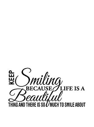 Ambiance Live Wandtattoo Smiling is beautiful schwarz
