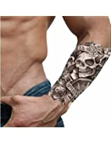 Temporary Waterproof Skull Game Tattoo Sticker Life Is Game Tattoo