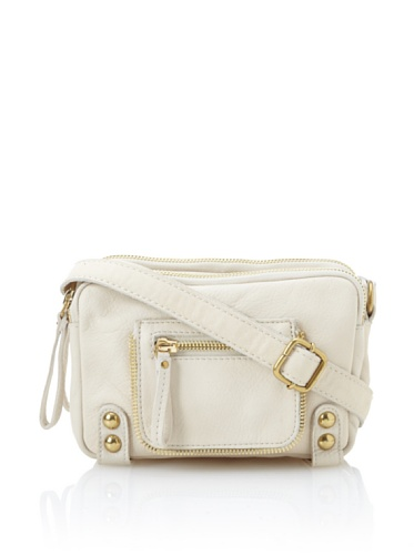 Linea Pelle Women's Dylan Amazing Triple Zip Shoulder Bag (Sand)