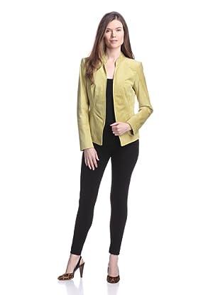 Lafayette 148 New York Women's Macie Suede Jacket (Green Tea)