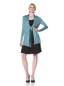 Natori Women Double Layered Cardigan (Ocean Blue)