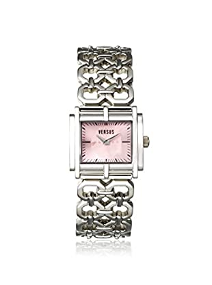 Versus by Versace Women's SGE010012 Moda Silver/Pink Stainless Steel Watch