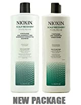 Nioxin Scalp Recovery Medicating Cleanser & Conditioner Duo 33.8 oz for Dandruff Hair