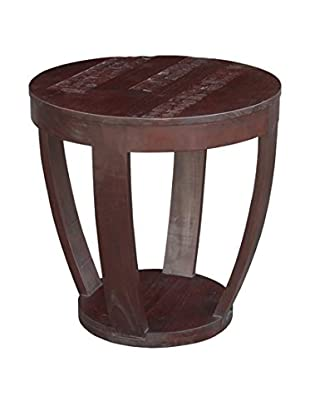 Jeffan Batavia Coco Motif Side Table, Dark Natural