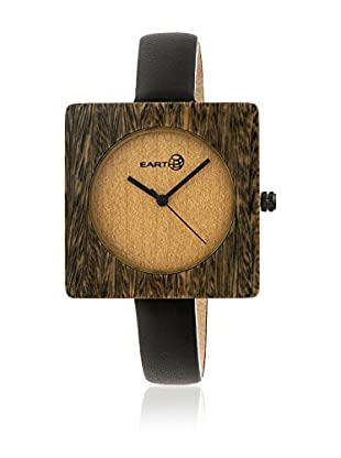 Earth Reloj con movimiento japonés Unisex Teton Negro 38 mm