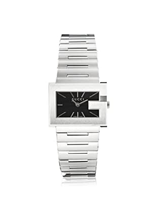 Gucci Women's YA100519 The G Rectangle Black Stainless Steel Watch