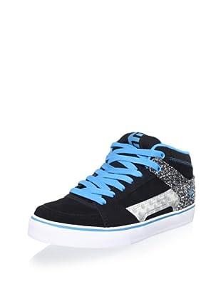 Etnies Women's RVM Hi Top Sneaker (Black/turquoise)