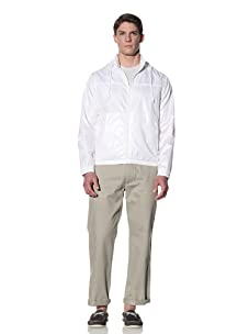 Perry Ellis Men's Solid Windbreaker (Bright White)