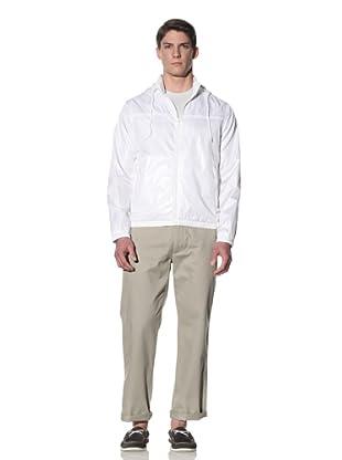 Perry Ellis Men's Solid Windbreaker (Bright White)
