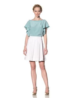 Philosophy di Alberta Ferretti Women's Box Pleated Skirt (White)