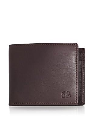PHILIPPE VANDIER Brieftasche Logo schokolade