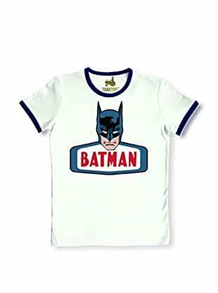 Logoshirt Camiseta Unisex Batman Camiseta (Blanco / Azul Marino)