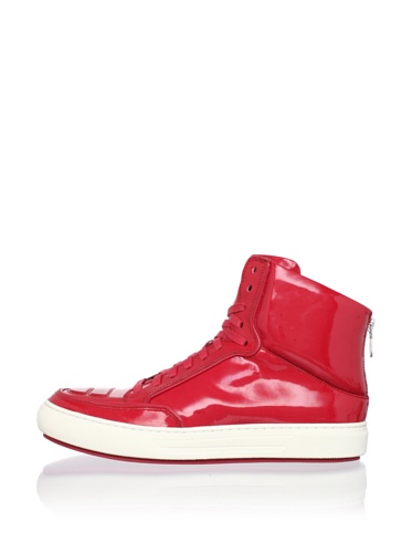 Alejandro Ingelmo Men's Jeddi Hi-Top Sneaker (Red/Red)
