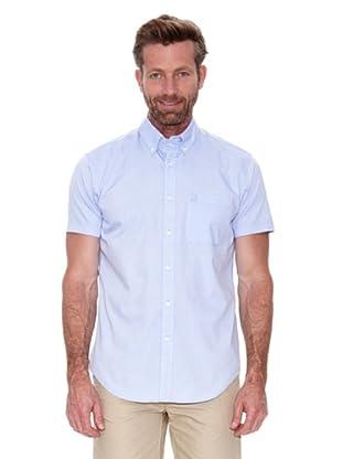 Cortefiel Camisa Mc Awati Liso (Azul)