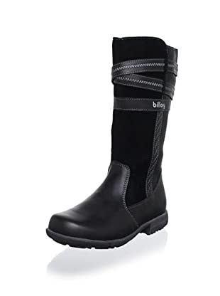 Billowy Kid's Strappy Tall Boot (Black)