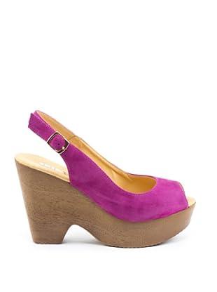 Misu Peeptoe-Sandalette Stelar (Violett)