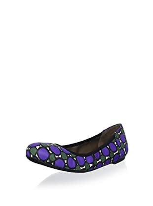 MARNI Women's Dot Graphic Ballet Flat (Dark violet)