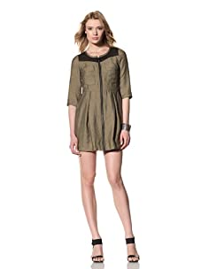 Twinkle by Wenlan Women's Zip Dress with Pockets (Ipanema Sage)