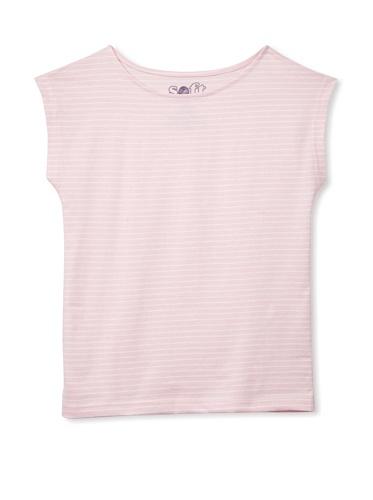 Soft Clothing Girl's Sorbonne Boatneck Short Sleeve Tee (Light Pink)