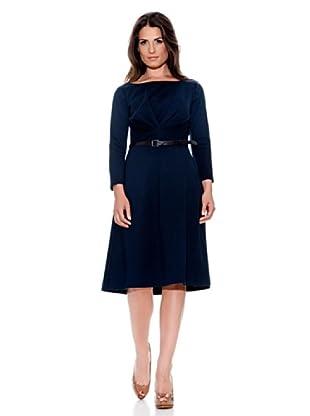 Caramelo Vestido Punto (Azul Marino)