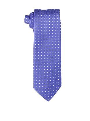 Yves Saint Laurent Men's Dot Block Tie, Blue/White