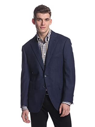 Nikky Men's Herringbone Jacket (Blue)