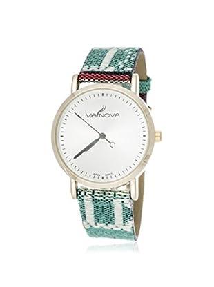 Via Nova Women's NWL301966G-M5 Multicolor Canvas & Leather Watch