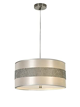 Trend Lighting Harmony Pendant, White/Silver