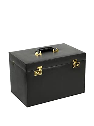 Wolf Heritage Collection Chelsea Extra Large Heirloom Jewelry Trunk (Black)