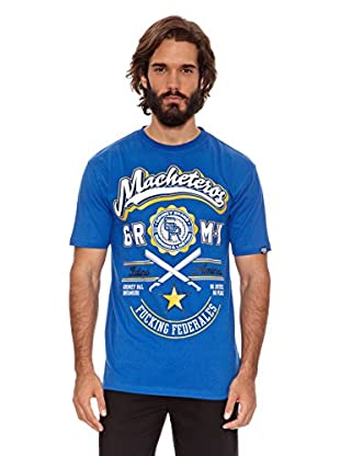 Grimey Wear Camiseta Macheteros (Azul Royal)