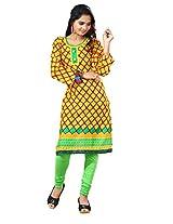 Arista Ready To Wear Yellow Kurti Size - 38 (Kr82)